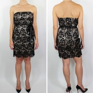 Forever 21 Strapless Lace Overlay Sheath Dress SM